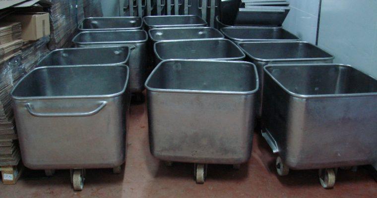 Bazine de inox cu roti